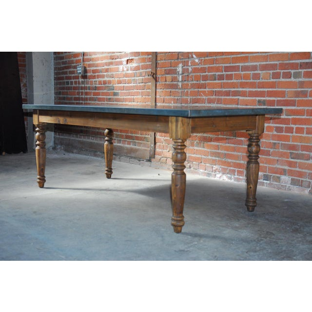 Zinc Topped Farm Table - Image 9 of 11
