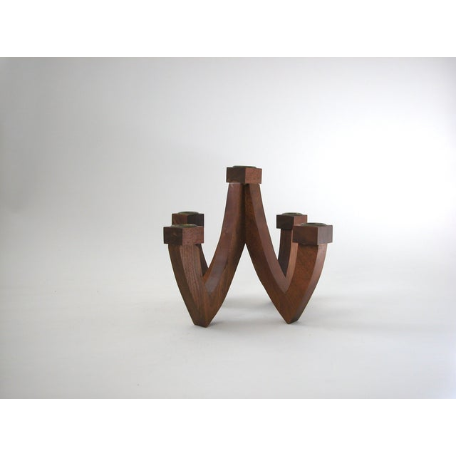 Mid-Century Wood Candle Holder - Image 8 of 9