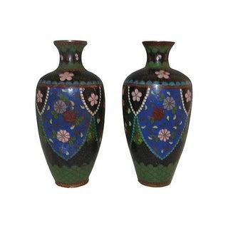 Antique Cloisonne Vases - Pair