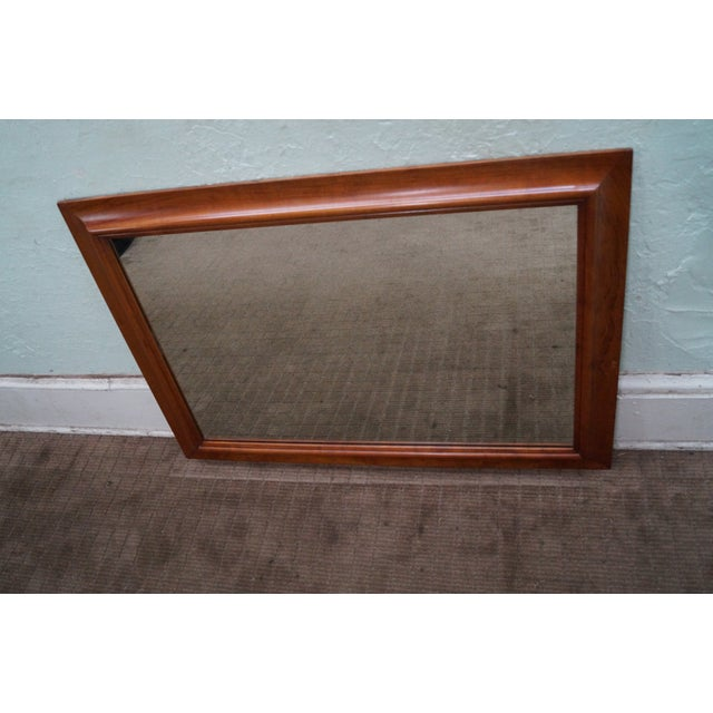 Image of Stickley Solid Cherry Frame Rectangular Mirror