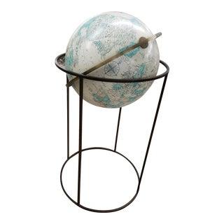 "Paul McCobb Style Replogle 16"" World Globe and Stand"
