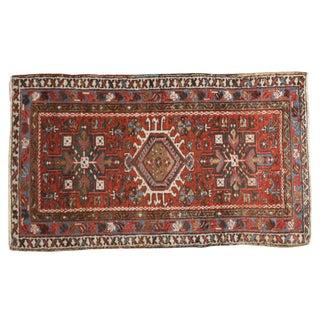 "Vintage Persian Karaja Rug - 2'4"" X 4'"