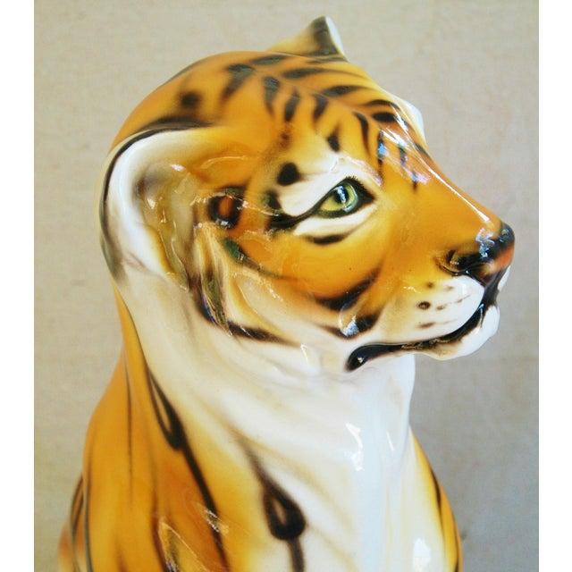Large Mid-Century Porcelain Italian Tiger - Image 9 of 11
