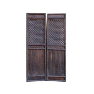 Chinese Pattern Wall Panels- A Pair