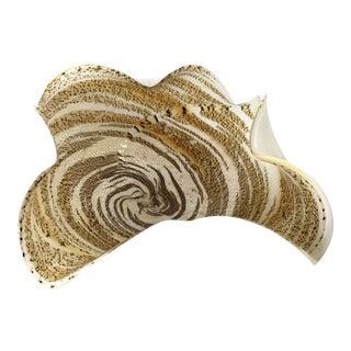 Murano Gold & White Glass Bowl