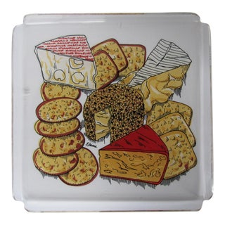 Acrylic Cheese Tray with Cheese Motif