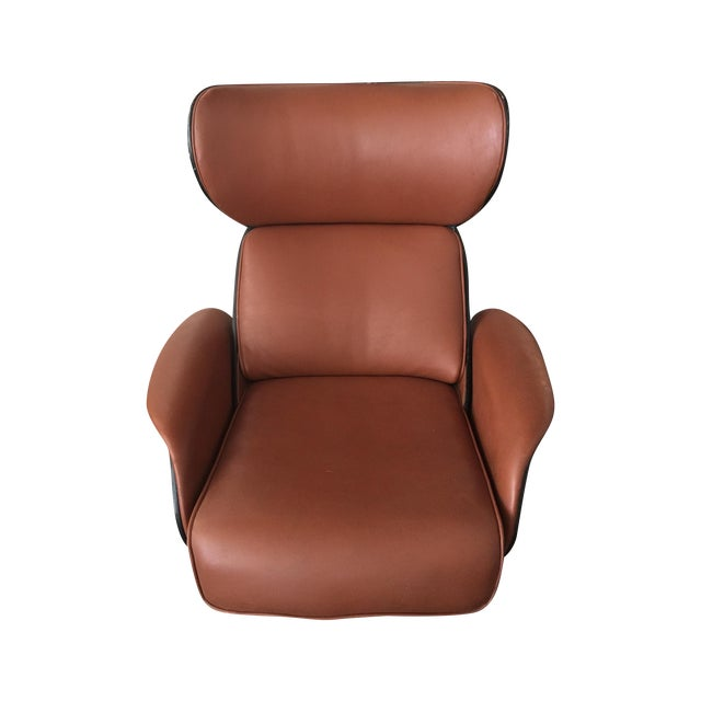 Eames Style Plywood Leather Lounge Chair Recliner Chairish