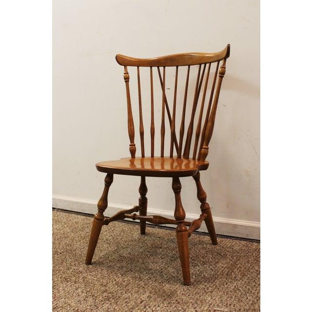 Ethan Allen Heirloom Nutmeg Windsor Side Chair   Chairish