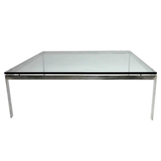 Monumental Steel & Glass Coffee Table by Jacob Epstein for Cumberland Furniture