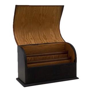 Antique Leather Desk Stationery Letter Organizer