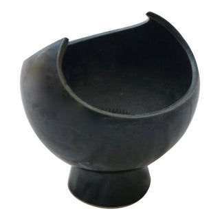 Black Winged Studio Pottery Vase