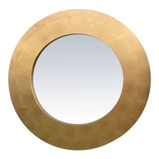 Round Gold Leaf Framed Mirror