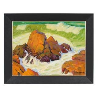 California Seascape Oil Painting