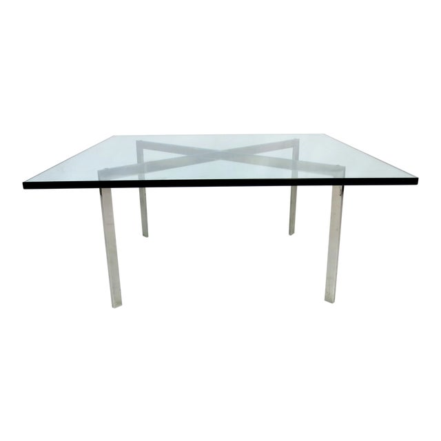 World class early barcelona coffee table by mies van der rohe for knoll decaso - Barcelona table knoll ...