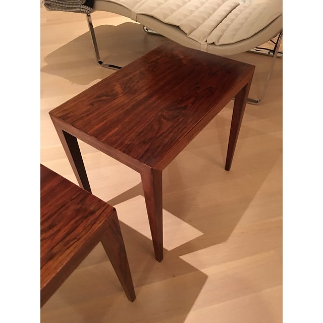 Vintage Danish Midcentury Rosewood Side Tables - 2 - Image 3 of 5