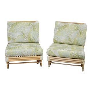 Bamboo Tropical Side Chairs - A Pair