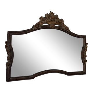 Floral Carved Horizontal Mirror
