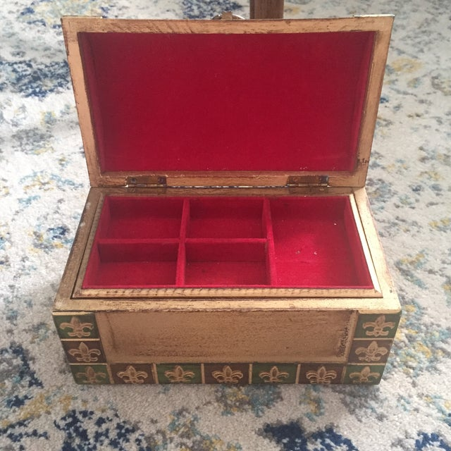 Antique Italian Florentine Gold Music Box Jewelry Box - Image 5 of 11