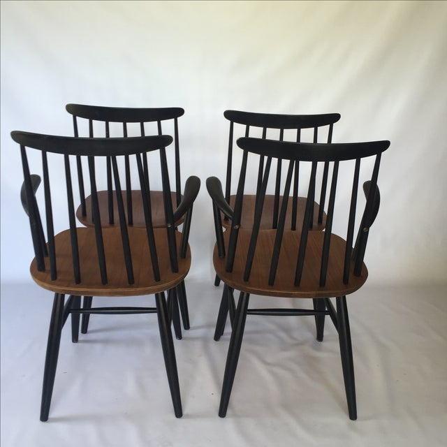 Tapiovaara-Style Dining Chairs - Set of 4 - Image 5 of 6