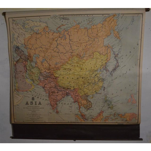 Image of Vintage Map of Asia