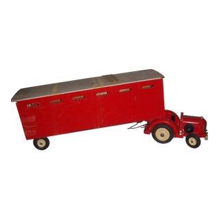 Vintage Red Wood Tractor
