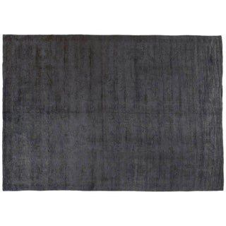 Silky Wool Gray Overdyed Rug - 10′ × 14′4″