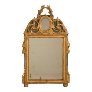 18th Century Original Paint & Gilt Mirror