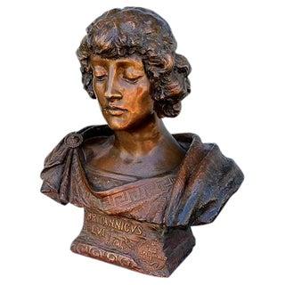 Vintage Bronze Bust of Britannicus
