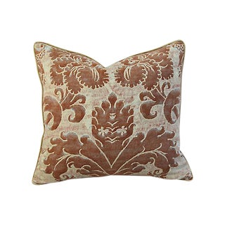 Custom Tailored Italian Mariano Fortuny Glicine Pillow