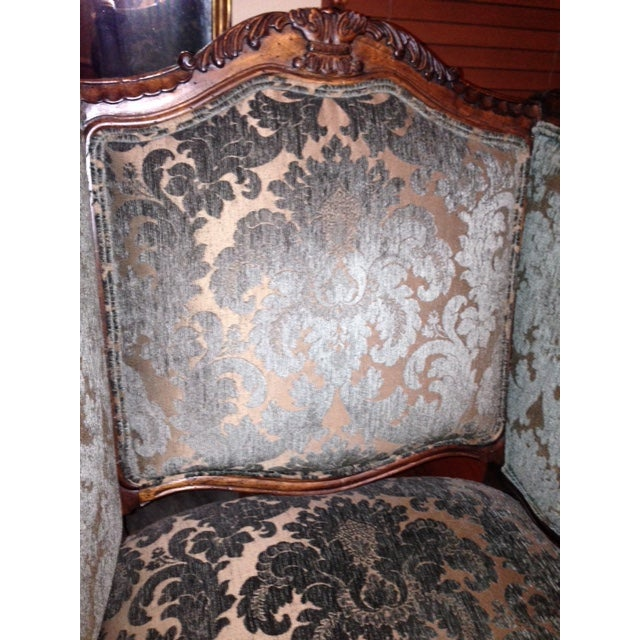 Handcrafted French Louis XV Style Bergere Chair - Image 4 of 10