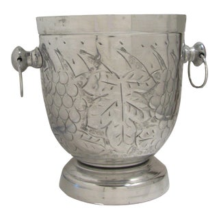 Mid-Century Grape Motif Champagne Ice Bucket