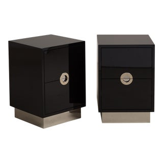 The Lacquered Porthole Bedside Cabinets by Talisman Bespoke