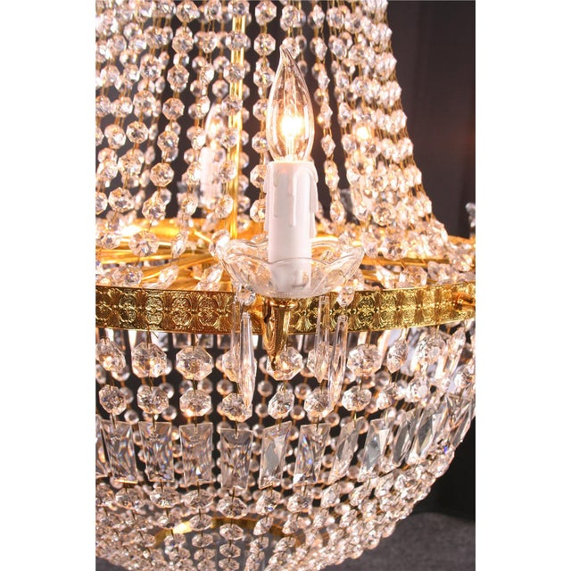 Italian Cut Glass Empire Napoleon Style Chandelier - Image 3 of 6