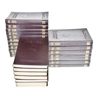 Vintage 1947 Modern Business Alexander Hamilton Institute Dark Burgundy Leather Books 24 Volumes