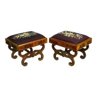 Pair of Classical Mahogany Footstools