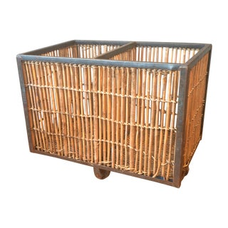 French Industrial Bamboo Cart