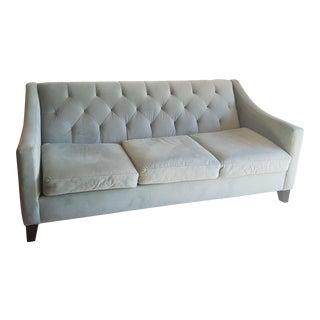 Macy's Velvet Tufted Apartment Sofa