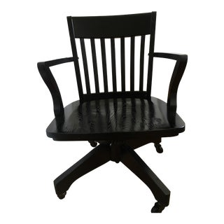 Pottery Barn Swiveling Hardwood Chair