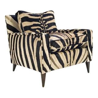 Paul McCobb for Custom Craft Zebra Hide Lounge Chair