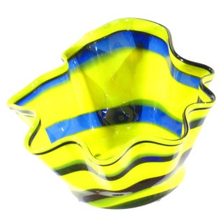 Pasargad N Y Multi Colored Handkerchief Shaped Blended Glaze Bowl