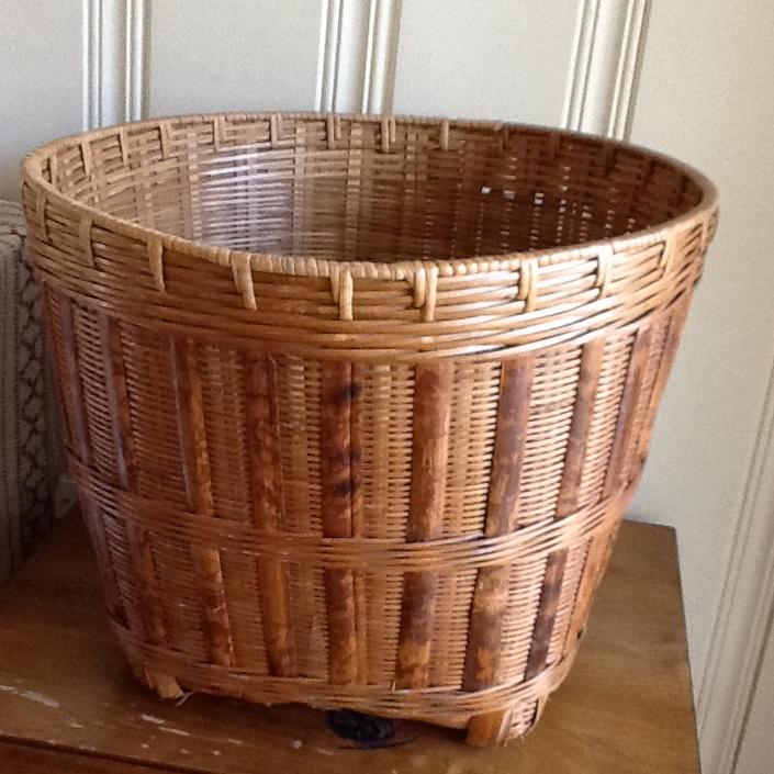 Large Wood Bamboo Storage Basket   Image 6 Of 9