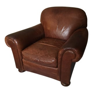 Stickley Leather Club Chair Tobacco Brown