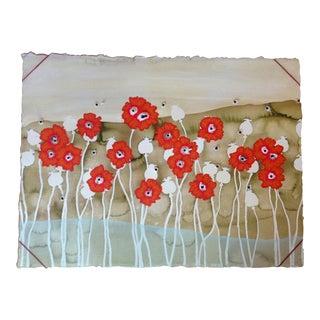 """Nancy Baker Cahill """"Bullet Blossoms"""" Mixed Media Artwork"""