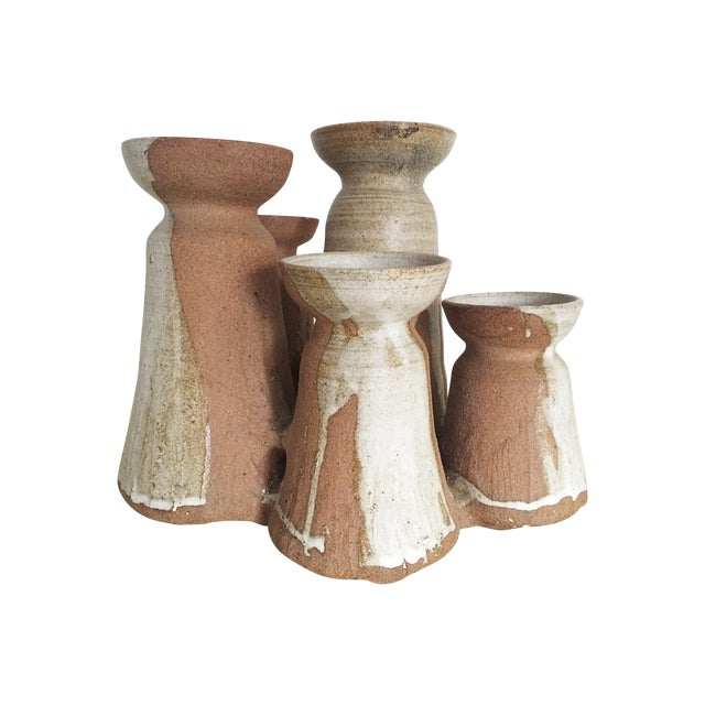 Mid-Century Studio Pottery Candle Holder - Image 1 of 10