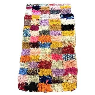 Vintage Boucherouite Small Multicolored Rug