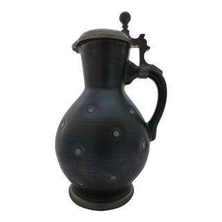 Modernist Ceramic Covered Pitcher