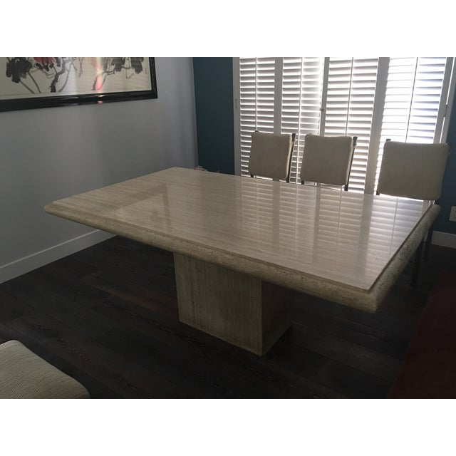 Italian Travertine Dining Room Set - Image 6 of 7