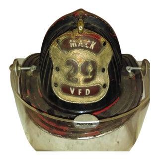 Vintage Cairns & Brother Firemen's Helmet With Original Leather Badge