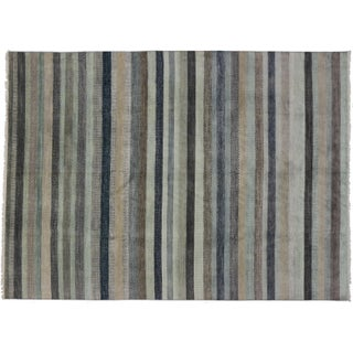 Hamptons Chic Transitional Area Rug - 9' X 12'3""