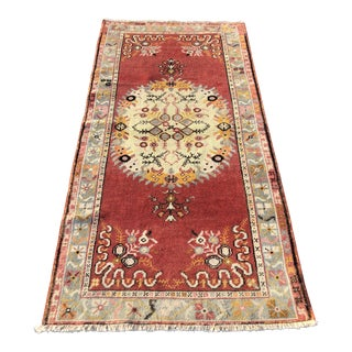 Vintage Turkish Anatolian Rug - 3′3″ × 6′5″